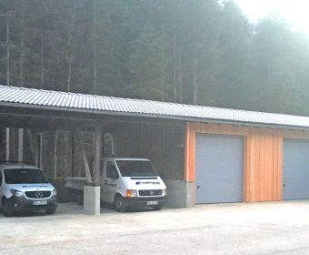 malergraßl - Kfz-Unterstand und Lagerhalle