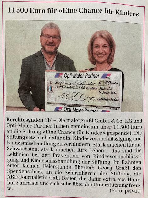 Pressemitteilung im Berchtesgadener Anzeiger / 25.01.20